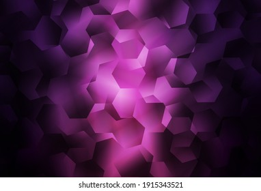 Dark Purple vector low poly background. Glitter abstract illustration with an elegant triangles. Brand new style for your business design.