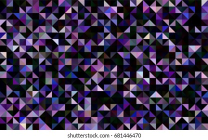 Dark Purple vector low poly template. Brand-new colored illustration in blurry style with gradient. Brand-new style for your business design.