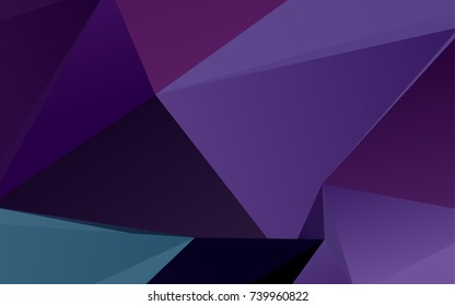 Dark Purple vector low poly pattern. Shining colored illustration in a brand-new style. A new texture for your design.