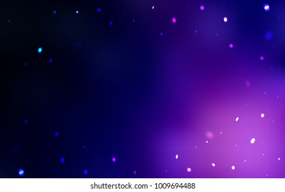Dark Purple vector pattern with christmas snowflakes. Glitter abstract illustration with crystals of ice. The pattern can be used for new year ad, booklets.