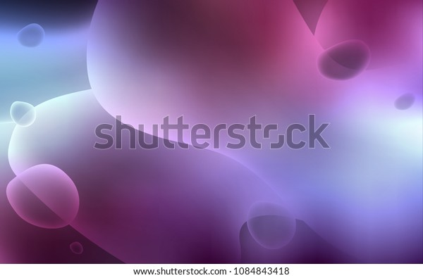 Dark Purple vector pattern with lava shapes. Colorful abstract illustration with gradient lines. Brand-new design for your ads, poster, banner.
