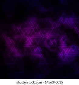 Dark Purple vector pattern with lines, triangles. Smart design in abstract style with gradient triangles. Pattern for booklets, leaflets