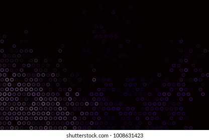 Dark Purple vector  pattern with spheres. Modern abstract illustration with colorful water drops. The pattern can be used for aqua ad, booklets.