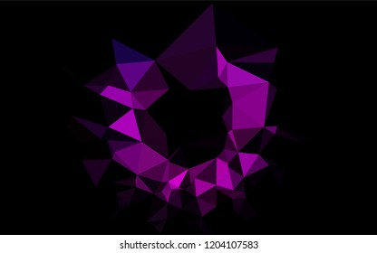 Dark Purple vector polygon abstract background. A sample with polygonal shapes. The textured pattern can be used for background.