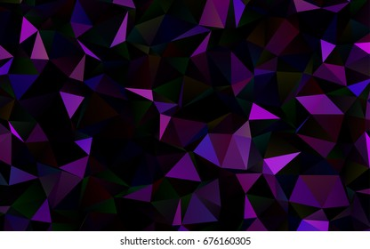 Dark Purple vector polygon abstract background. Colorful abstract illustration with gradient. Brand-new design for your business.