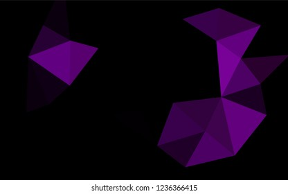 Dark Purple vector shining hexagonal template. A completely new color illustration in a vague style. The completely new template can be used for your brand book.