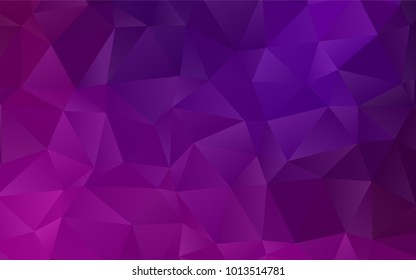 Dark Purple vector shining triangular background. Creative geometric illustration in Origami style with gradient. A new texture for your design.