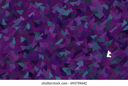 Dark Purple vector of small triangles on white background. Illustration of abstract texture of triangles. Pattern design for banner, poster, cover.