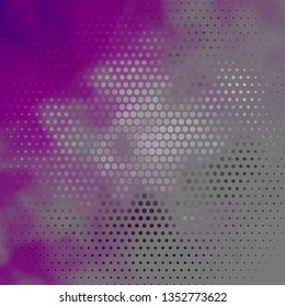 Dark Purple vector template with circles. Colorful illustration with gradient dots in nature style. Pattern for wallpapers, curtains.