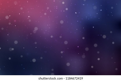 Dark Purple vector template with ice snowflakes. Blurred decorative design in xmas style with snow. The pattern can be used for new year ad, booklets.
