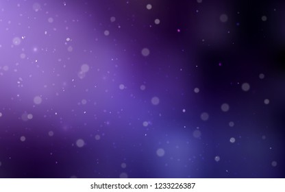 Dark Purple vector template with ice snowflakes. Decorative shining illustration with snow on abstract template. New year design for your business advert.