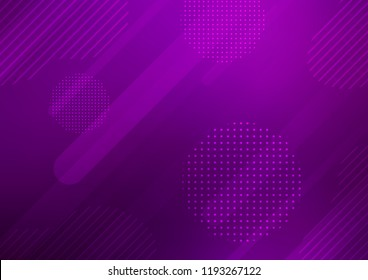 Dark Purple vector template with repeated sticks, circles. Modern geometrical abstract illustration with sticks, dots. The pattern can be used for websites.