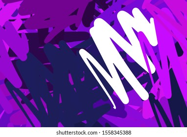 Dark Purple vector template with repeated sticks. Glitter abstract illustration with colorful sticks. Pattern for ad, booklets, leaflets.