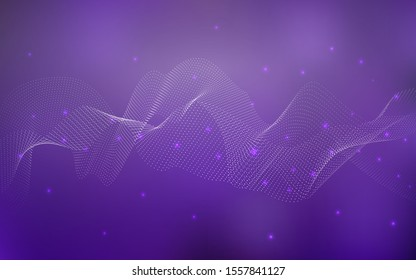 Dark Purple vector texture with disks. Blurred bubbles on abstract background with colorful gradient. New design for ad, poster, banner of your website.