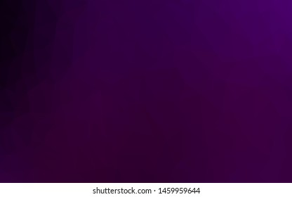 Dark Purple vector triangle mosaic texture. Modern geometrical abstract illustration with gradient. Template for a cell phone background.