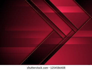 Dark red abstract corporate material background. Vector design
