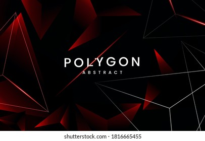 Dark red abstract Triangular background, with  Modern abstract geometric background, Abstract red 3ds composition triangles. red abstract Modern geometric background. 3D vector illustration.