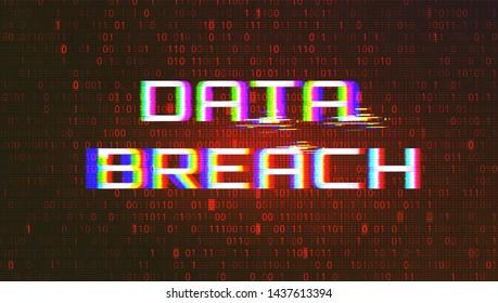 Dark Red Background with Data Breach Glitch Effect