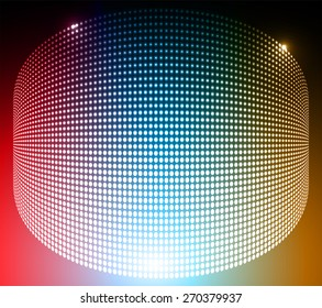 Dark red blue orange circle Abstract light lamps background for Technology computer graphic website internet and business.. Screen on stage. Vector illustration. Spot Effect. neon. point. dot