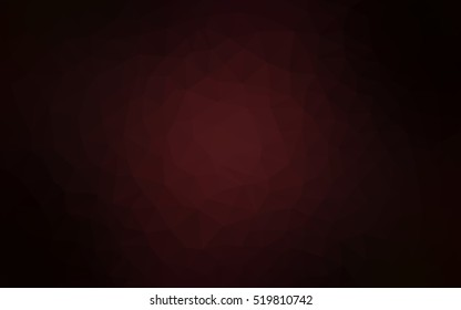 Dark red blurry triangle background. A sample with polygonal shapes. The completely new template can be used for your brand book.