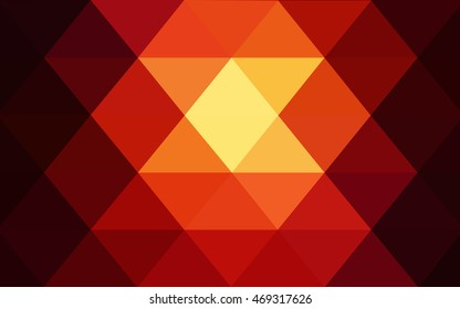 Dark red blurry triangle pattern. An elegant bright illustration with gradient. The template can be used as a background for cell phones.