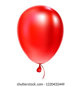Dark red helium balloon Birthday baloon flying for party and celebrations Isolated on white background. Vector illustration for your design and business