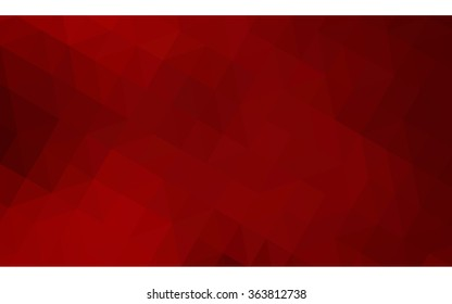 Dark red polygonal illustration, which consist of triangles. Geometric background in Origami style with gradient. Triangular design for your business in vector.