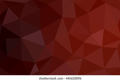 Dark red polygonal illustration, which consist of triangles