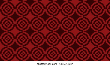 Dark Red Quarter Circles Background Pattern Vector
