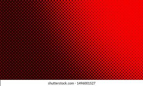 Dark red retro comic pop art background with dots, cartoon halftone background vector illustration eps10