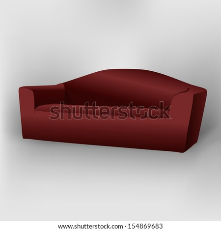 Dark Red Sofa Shadow Stock Vector (Royalty Free) 154869683 ...