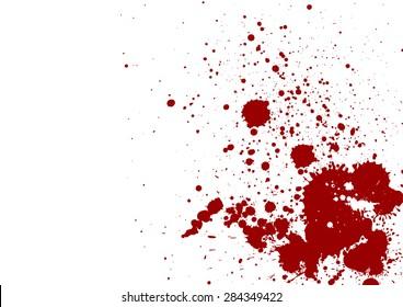dark red splash on white background. Vector illustration. Grunge background