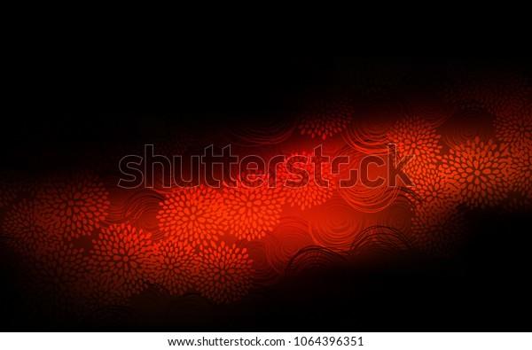Dark Red Vector Abstract Doodle Wallpaper Stock Vector Royalty