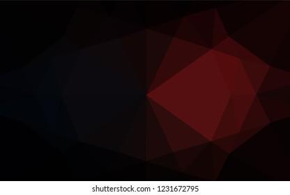 Dark Red Vector Polygonal Template Elegant Stock Vector
