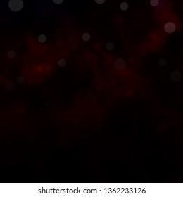 Dark Red vector backdrop with circles. Abstract decorative design in gradient style with bubbles. Design for your commercials.
