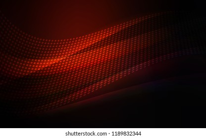 Dark Red vector background with bubbles, lines. Colorful illustration with circles and lines in futuristic style. Pattern for trendy fabric, wallpapers.