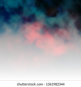 Dark Red vector background with clouds. Abstract illustration with colorful gradient clouds. Beautiful layout for uidesign.