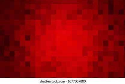 Dark Red vector background of rectangles and squares. Style quilt and blanket. Geometrical rectangular pattern. Repeating pattern with rectangle shapes.