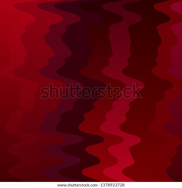 Dark Red vector background with wry lines. Abstract illustration with bandy gradient lines. Pattern for websites, landing pages.