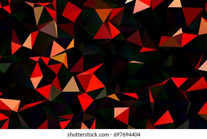 Dark Red vector blurry triangle background. A completely new color illustration in a vague style. A completely new template for your business design.