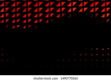Dark Red vector cover with spots. Blurred decorative design in abstract style with bubbles. Pattern for ads, leaflets.