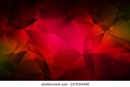 Dark Red vector gradient triangles pattern. A completely new color illustration in a polygonal style. Best triangular design for your business.