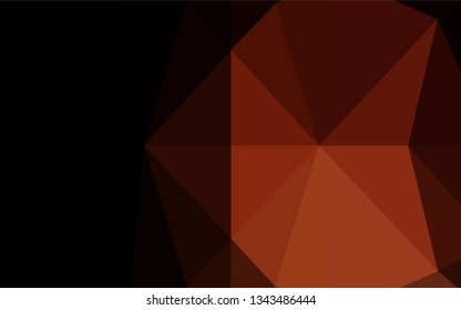 Dark Red vector hexagon mosaic texture. Geometric illustration in Origami style with gradient.  The completely new template can be used for your brand book.