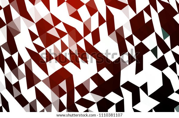 Dark Red vector hexagon mosaic template. A sample with polygonal shapes. The textured pattern can be used for background.