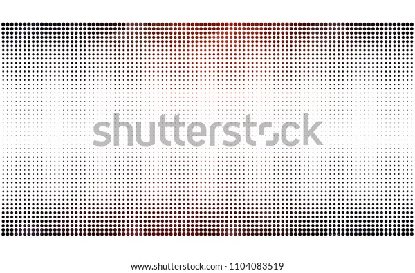 Dark Red vector illustration which consist of circles. Dotted gradient design for your business. Creative geometric background in halftone style with colored spots.