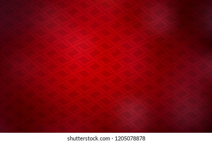 Dark Red vector layout with lines, rectangles. Beautiful illustration with rectangles and squares. The template can be used as a background.