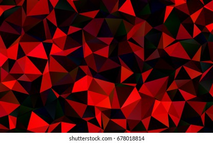 Dark Red vector low poly pattern. Creative geometric illustration in Origami style with gradient. Brand-new design for your business.