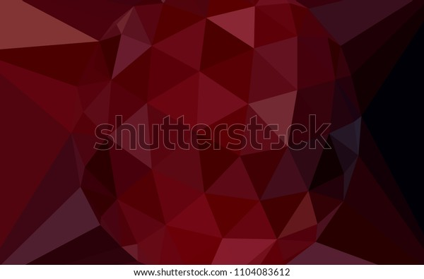 Dark Red vector low poly layout with a diamond. Illustration in Origami style with gradient.  Brand new design for your business.