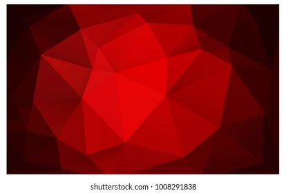 Dark Red vector modern geometrical abstract background. Texture, new background. Geometric background in Origami style with gradient.