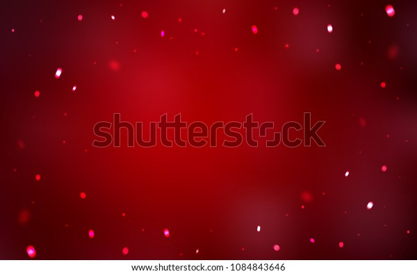 Dark Red vector pattern with christmas snowflakes. Modern geometrical abstract illustration with crystals of ice. New year design for your business advert.